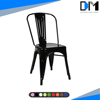 industrial metal bistro chair , metal restaurant chair seat cushions