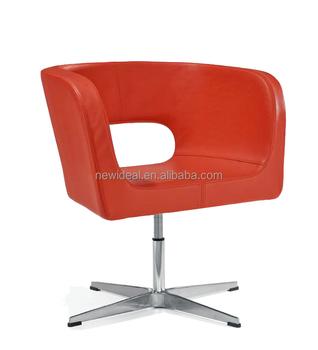 4 Star Leg Swivel Leather Tub Chair (NS2616)