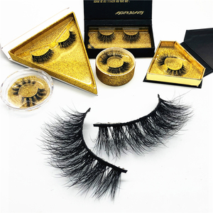 Wholesale 100% real siberian mink fur eyelash vendor 3d mink eyelashes