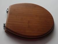 round bamboo toilet seat