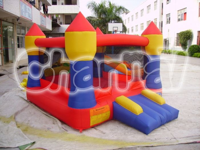 Home use cheap residential wholesales Oxford 420D nylon inflatable bouncy castle moonwalk bouncer with tree