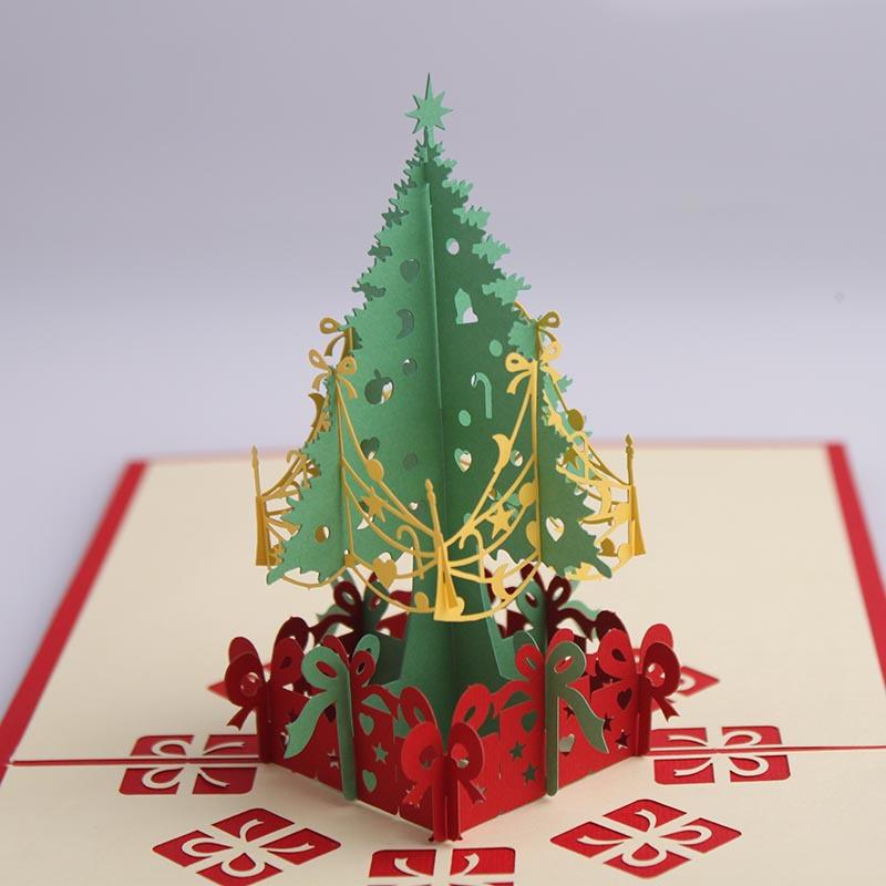 2015 feliz navidad 3d pop up tarjetas de navidad - Tarjeta De Navidad En 3d