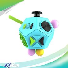 New Arrival 2017 Factory 6-Sided Desk Toy Magic Fidget Cube, christmas Fidget Toy Marble