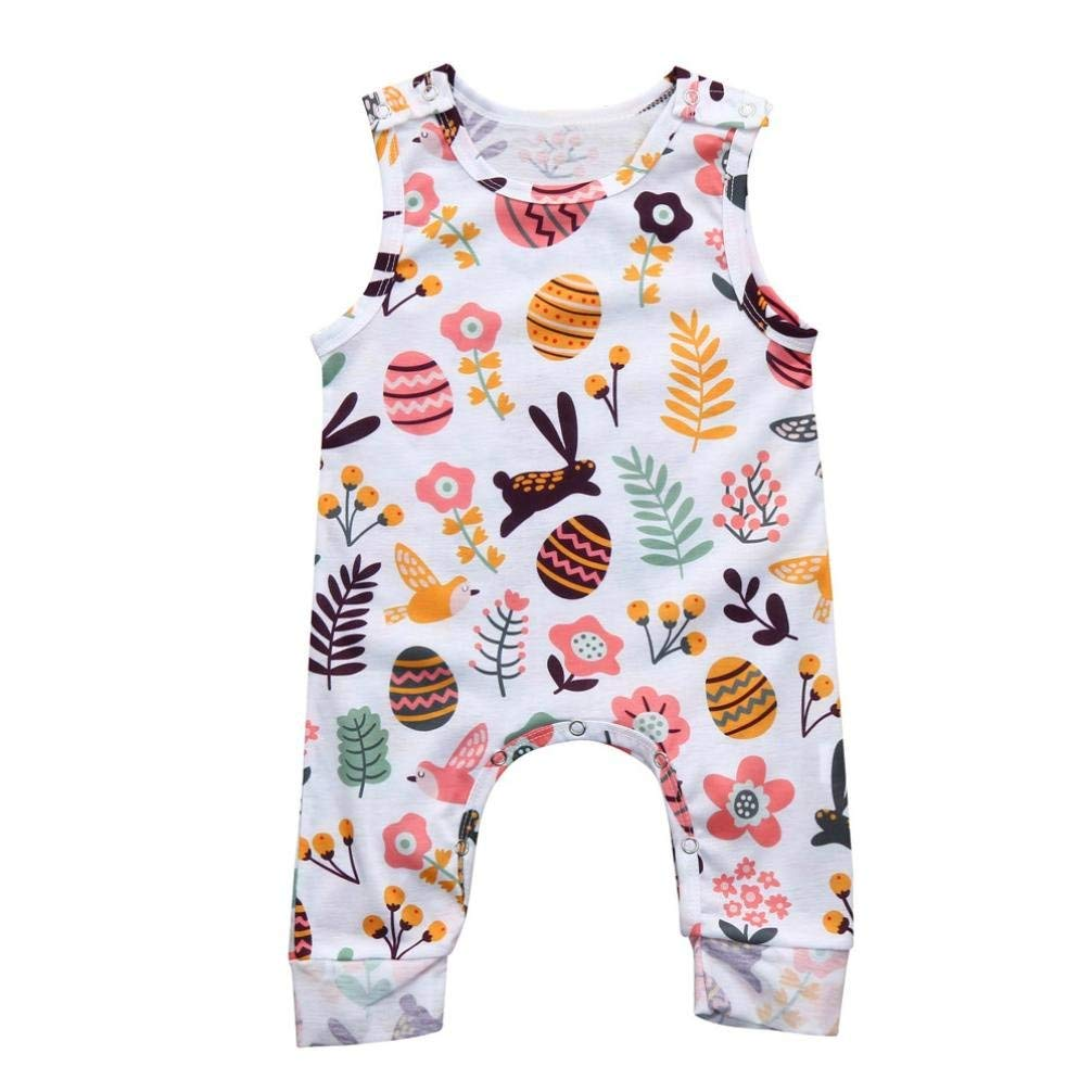 e56253be34a Get Quotations · Winsummer Cute Newborn Baby Boy Girl Easter Eggs Romper  Bodysuit Outfits Spring Summer Tee Jumpsuit