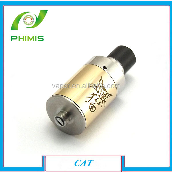 Hottest sale huge vapor full Stainless steel rebuildable atomizer heavy taste cat atomizer