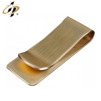 Promotional cool cheap gold sliver black metal money clips