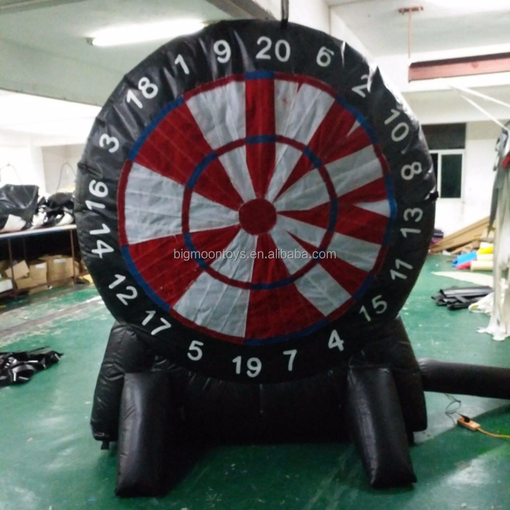 Amusement inflatable velcro dart game