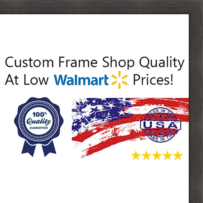 6x12-6 x 12 Charcoal Flat Solid Wood Frame with UV Framer's Acrylic & Foam Boa