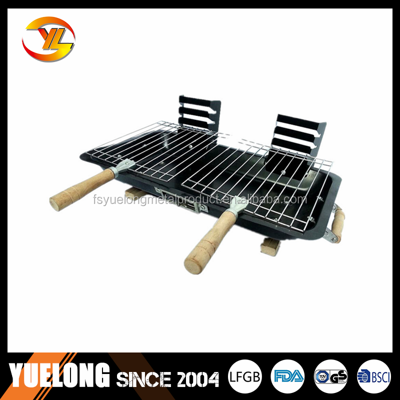 Double Steel Hibachi Bbq Grill. Portable Bbq Grill .   Buy Portable  Charcoal Bbq Grill,Adjustable Bbq Grill,Outdoor Bbq Grill Product On  Alibaba.com