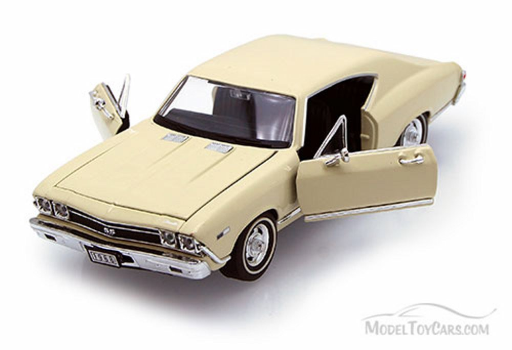 Welly 1968 Chevy Chevelle SS396 1/24 Scale Diecast Model Car Cream