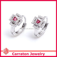 Good Quality 925 Solid Silver Gold Plated Cheap Price Diamond Earrings