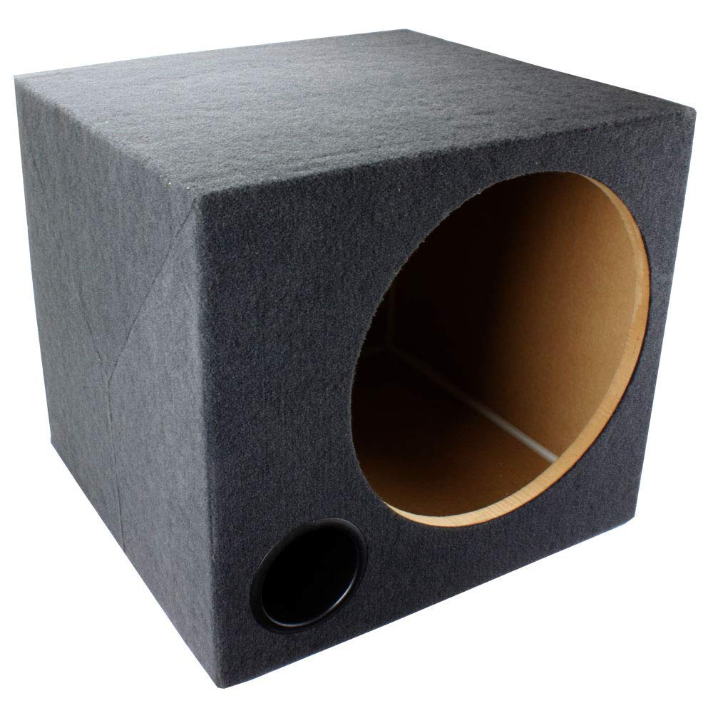 "2 NEW *BASS12* EMPTY WOOFER BOX QPOWER; 12/"" SLOT PORTED QBASS12"