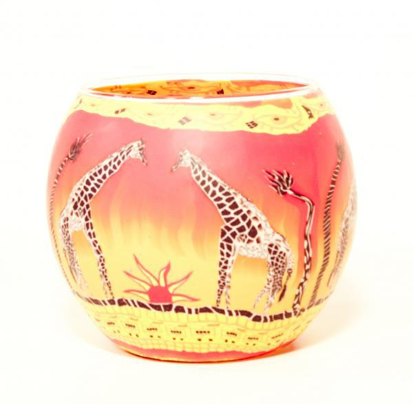 DMO yiwu Bobao new design unique decoration ornaments glass candle cup tealight polymer clay candle holder