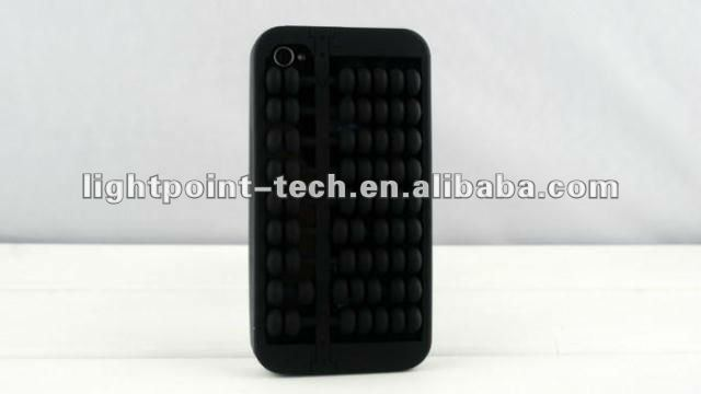 Retro Abacus Abaci Counting Frame Design Silicone Case for Apple Iphone 4 4G 4S