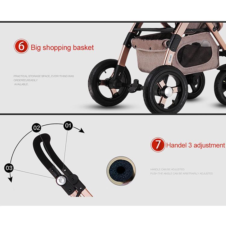 Cochecito de bebe 360 Rotation stroller baby