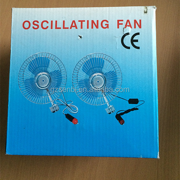 6inch/8inch/10inch dc 2 speed oscillating small 6inch 12v dc car fan