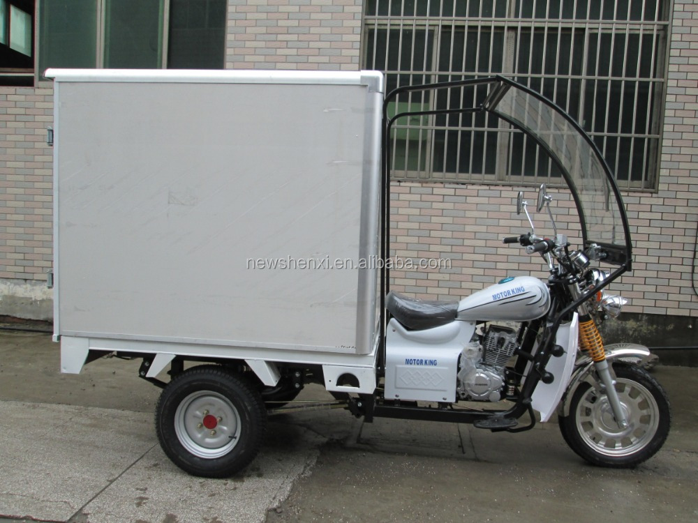 Hot Sale Closed Cargo Box 3 Wheel Cargo Tricycle Optional Color For Sale