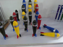 multicolors plastic rocket ball pen
