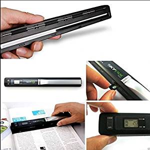 Mini 900 DPI Cordless Handheld Scanner Portable HandyScan for A4 Book Photo Document