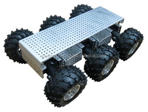 6 wd search and rescue robot platform, Large torque handling car Fire-fighting robot