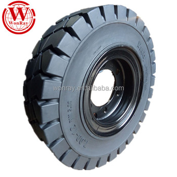 18 inch electrical forklift drive solid rubber wheels 18x7-8 with rims assembly