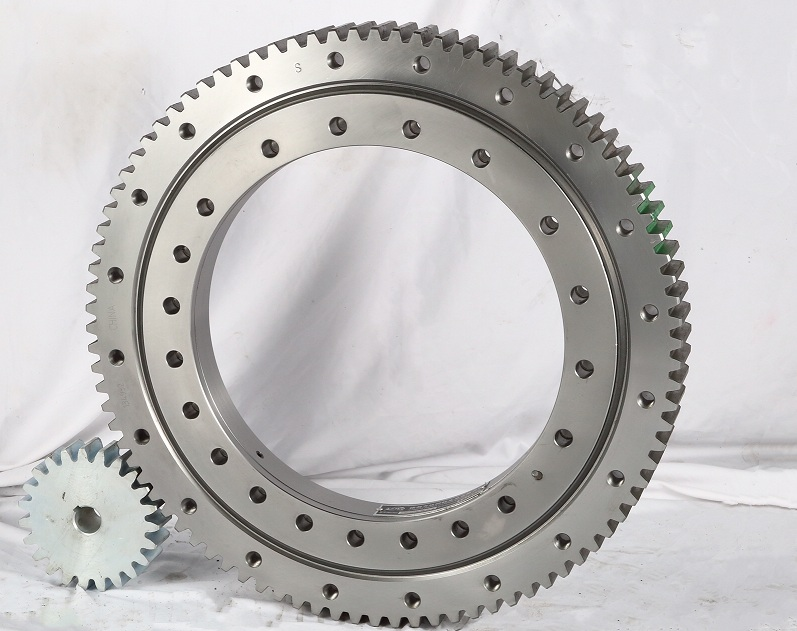 High quality factory Single Row Four Point Contact Ball Slewing Bearing External Gear with Pinion Single Row Four Point Contact Ball Slewing Bearing External Gear with Pinion