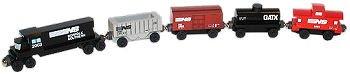 Norfolk Southern 5-Car Wooden Toy Train Set by Whittle Shortline Railroad