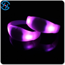 Remote Controlled Sound Activated Led Bracelet With Customized Logo For Night Club/Pubs/Concert/Holidays/Night Racing