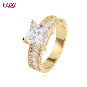 gold plated jewelry wholesale copper alloy jewelry diamond engagement men's ring