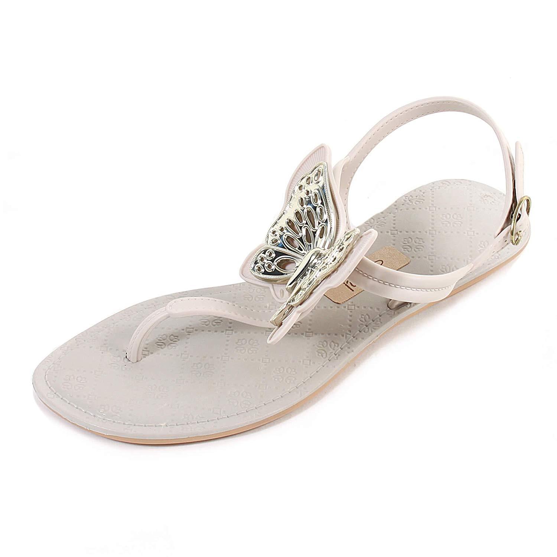 7625c2549 Get Quotations · Grendha Women s Sense Butterfly Slip On Buckle Sandal Ivory