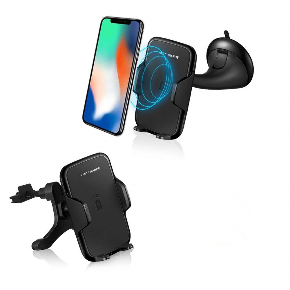 10W fast charger with qi standard usb cell phone wireless car charger фото