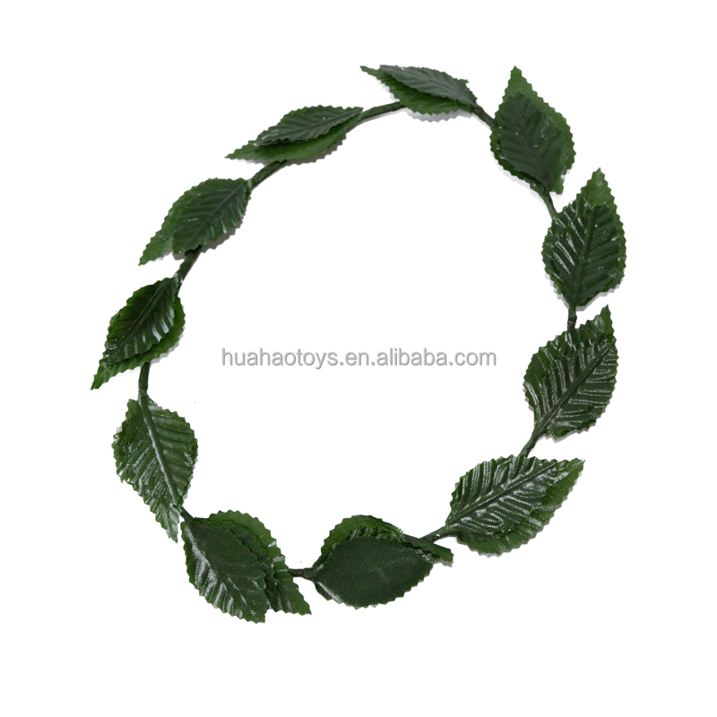 Novelty Green Leaf Roman Greek Goddess Laurel Wreath Fancy Dress Costume Headband
