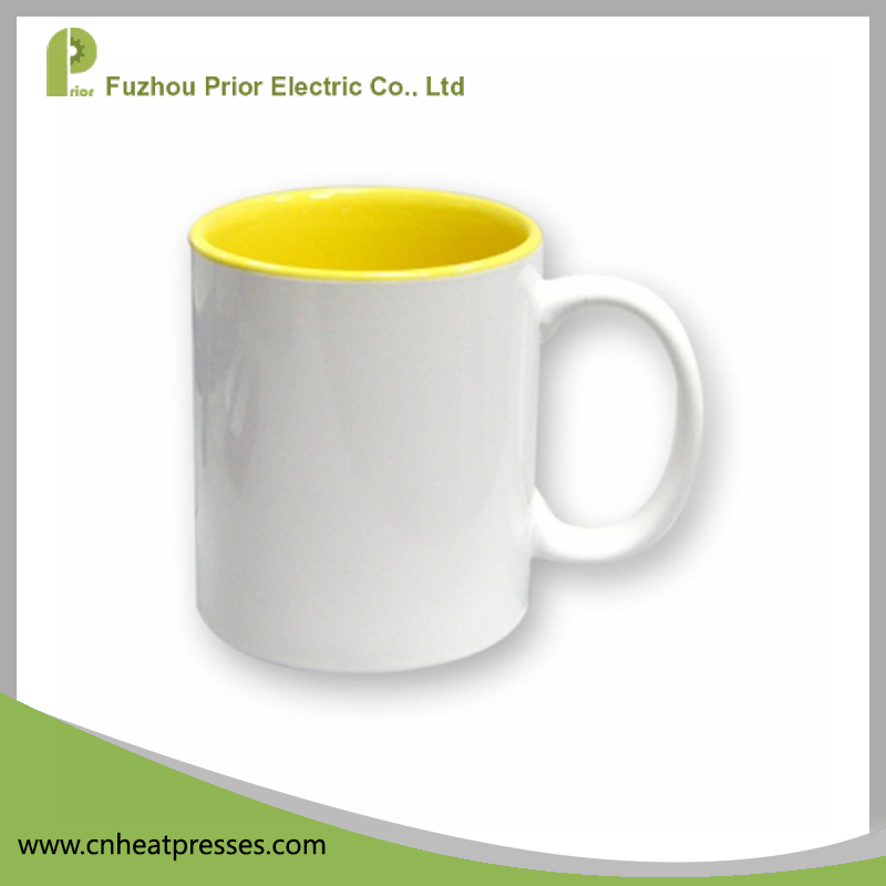 Prior Wholesale Top Grade 11oz Different Inner Colour Blank Sublimation Cup, Custom Mug