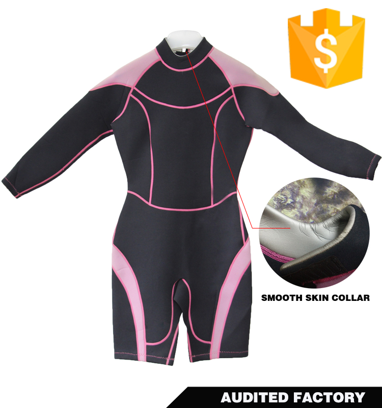 3mm neoprene ladies springsuit shorty wetsuit for surfing