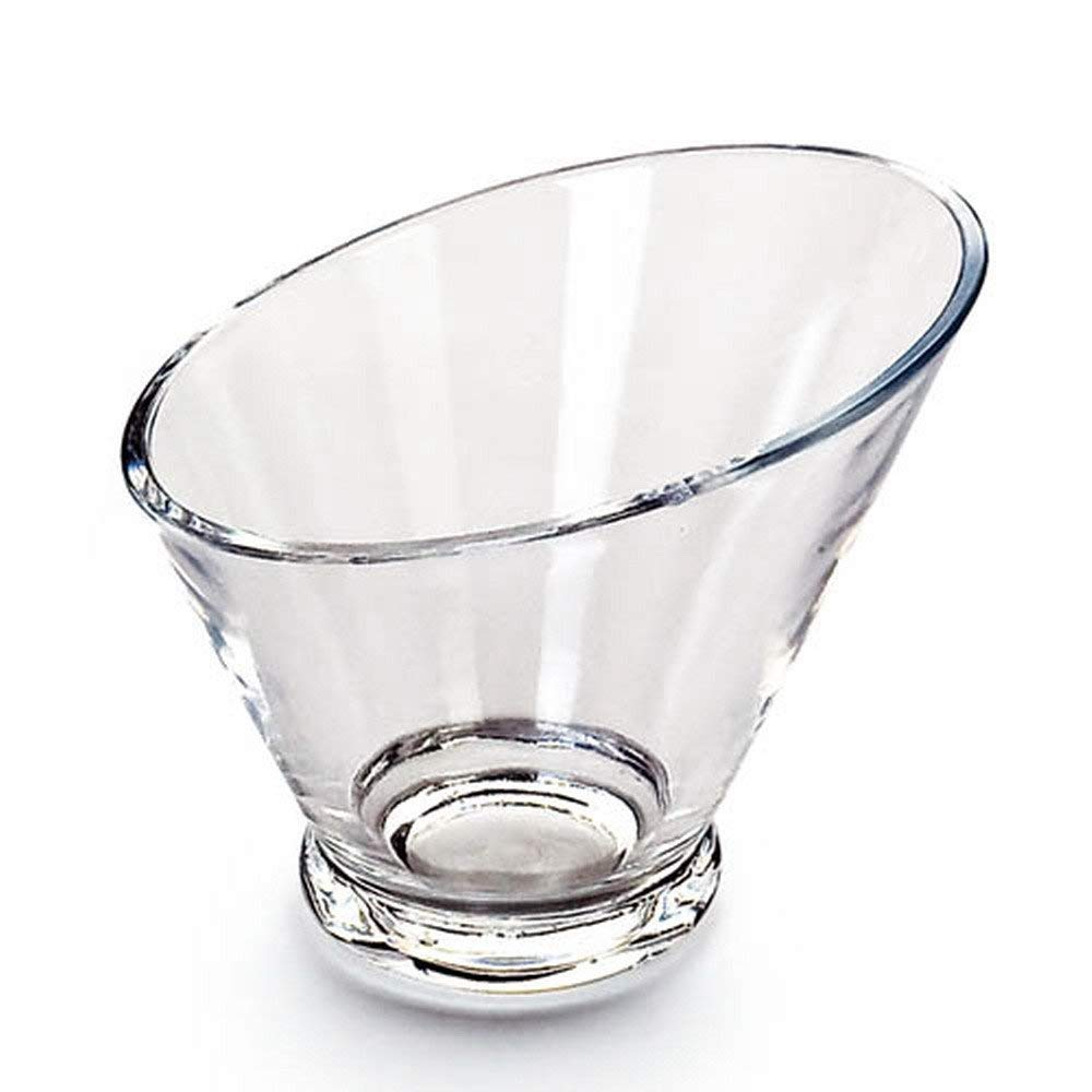 Giftale Acrylic Salad Bowl Break-Resistant , Polycarbonate Plastic Glassware Collection #9236