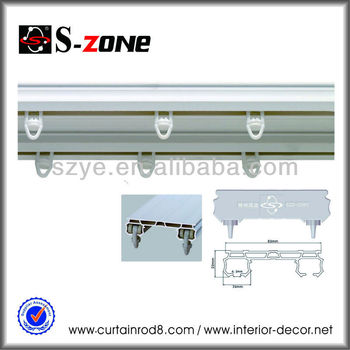 Sdc03 Plastic Double Ceiling Mounted Curtain Rail Pvc Curtain Track ...