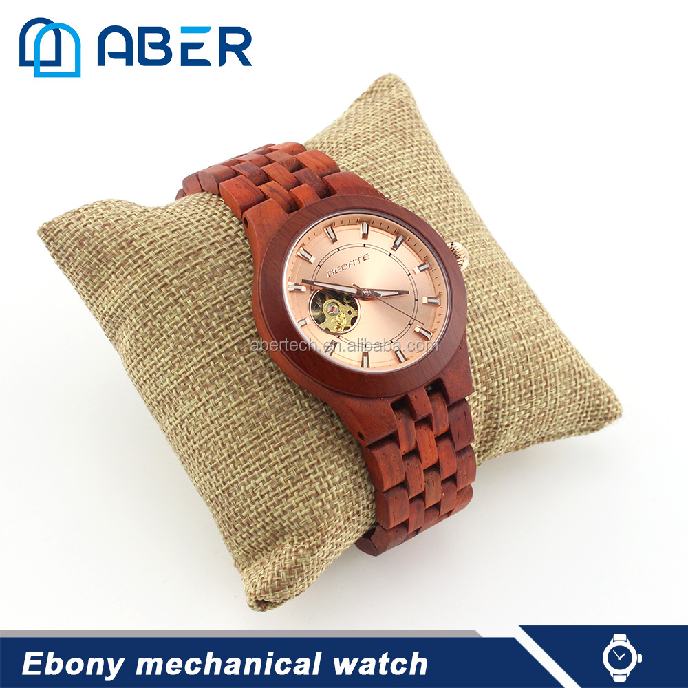 best wrist mechanical ebony wooden watches classic style automatic luxury wristwatch watch for man