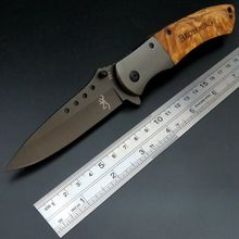 New Hunting Survival Tool 351 Wooden Handle Combat Knives Folding Camping Knife