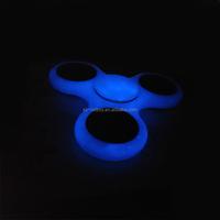 Custom brand fidget spinner glow in dark Tri spinner adhd fidget toy light spinner