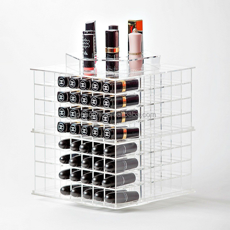 High Quality Clear Acrylic 168 Easy Rotating Lipstick Holder