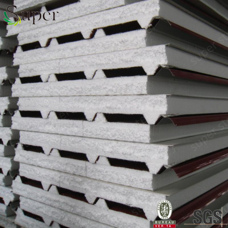 Factory price clear trapezium polystyrene sandwich panel