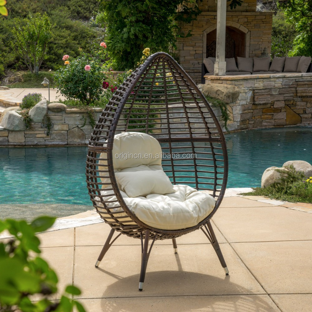 Tropical bali style contemporary outdoor round sun lounge furniture wicker egg chair