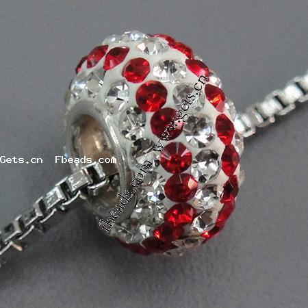 Gets.com rhinestone clay pave red czech necklace