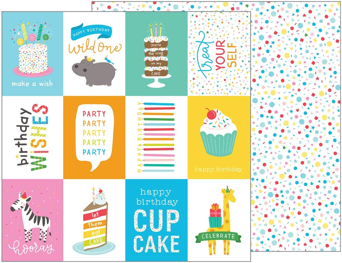 Get Quotations Happy Hooray Double Sided Cardstock 12X12 Birthday Wishes