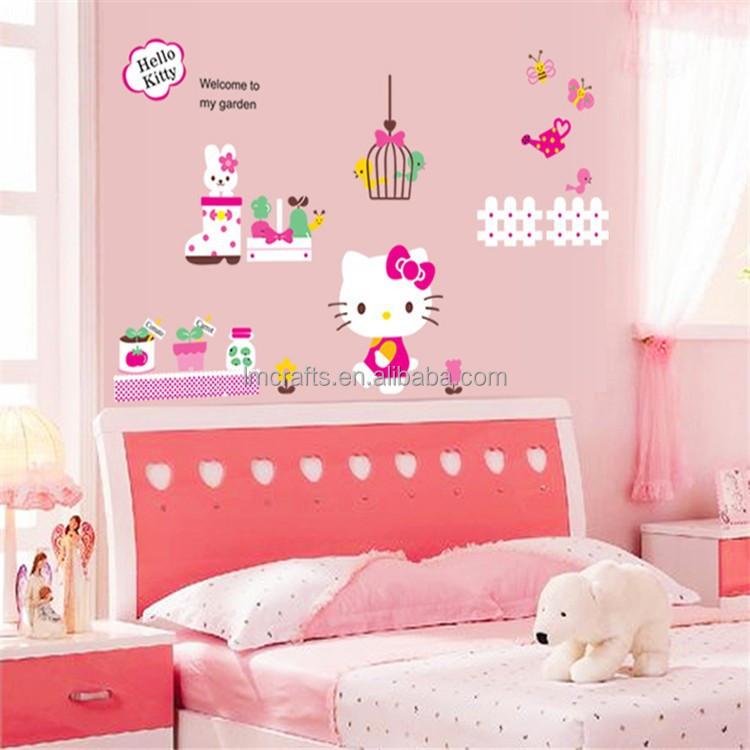 Hello Kitty Wall Stickers Hello Kitty Wall Stickers Suppliers And - Hello kitty wall stickers