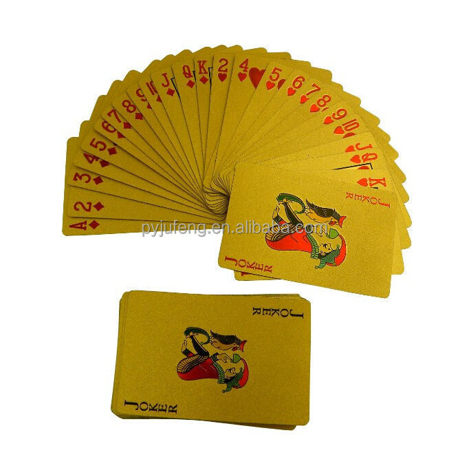 24k gold foil playing cards in high quality gold poker