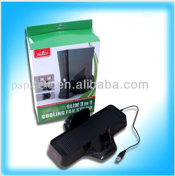 New arrived 3 in 1 Cooling Fan Stand for xbox-360 game console