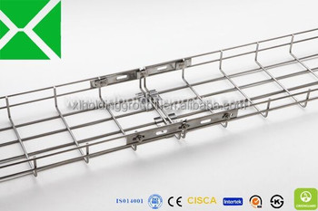 Steel Wire Mesh Cable Tray Perforated Solid Pre Galvanized Ladder ...