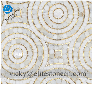 Glass Mosaic Tile 8mm Bathroom Kitchen Hotel waterjet mosaic