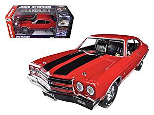 1970 Chevrolet Chevelle SS 454 Red Jack Reacher Limited to 1250pc 1/18 Car Model by Autoworld